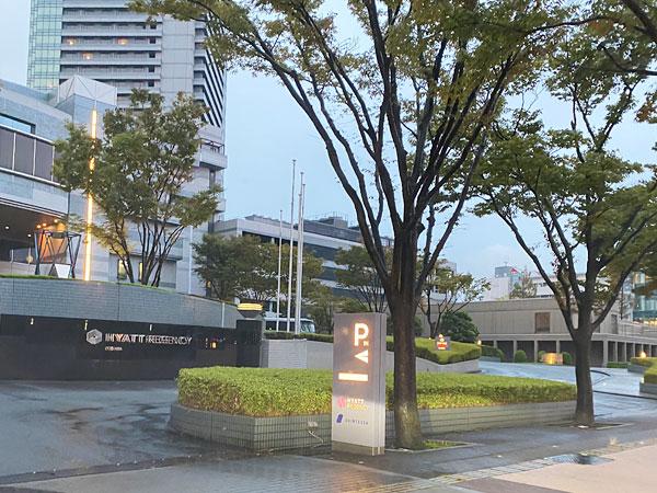 ハイアットリージェンシー大阪の入り口