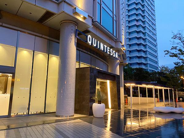 雨の日のクインテッサホテル大阪ベイ