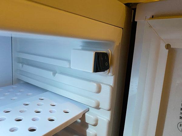 【クインテッサホテル大阪ベイ】冷蔵庫のスイッチ