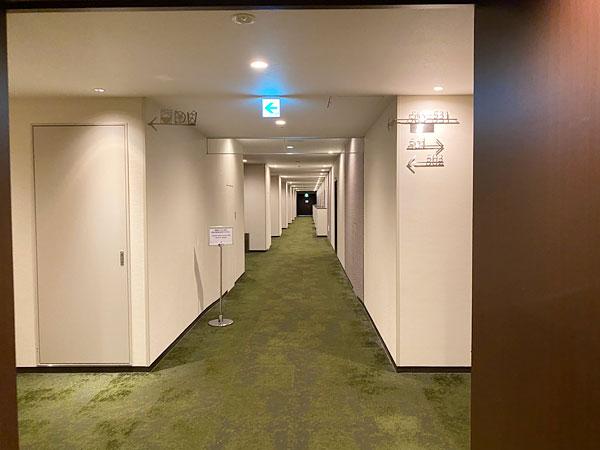 【クインテッサホテル大阪ベイ】廊下