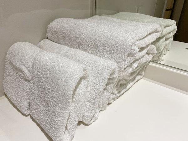 【クインテッサホテル大阪ベイ】バスタオルとフェイスタオル
