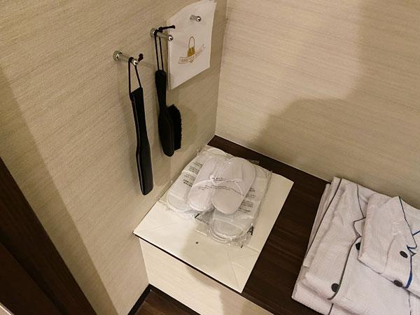 【クインテッサホテル大阪ベイ】スリッパとパジャマ