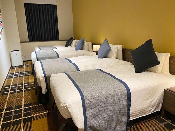 【クインテッサホテル大阪ベイ】ファミリータイプの部屋のベッド