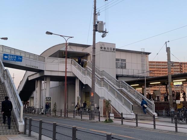 安治川口駅の外観