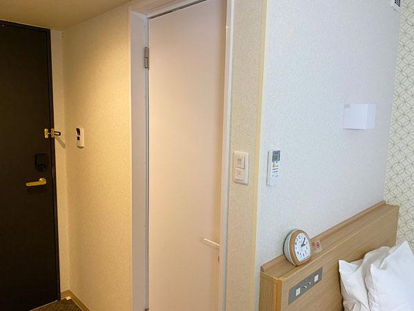 【ABホテル】洗面所の入り口