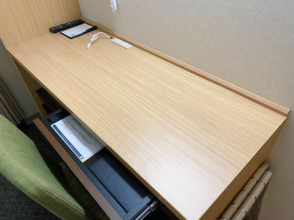【ABホテル堺東】デスク面