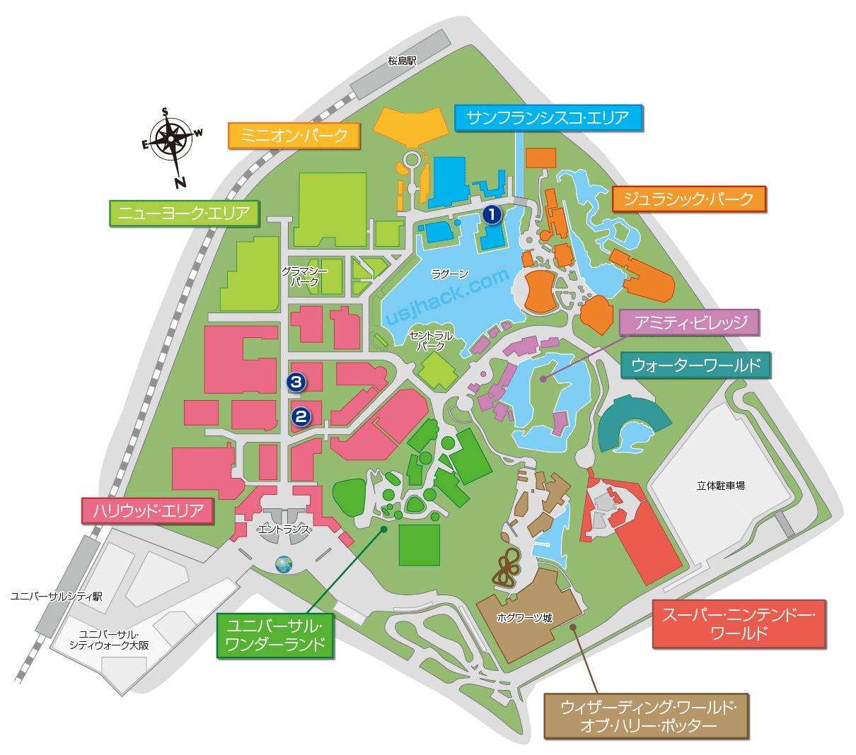 コナンフード販売場所のわかるマップ