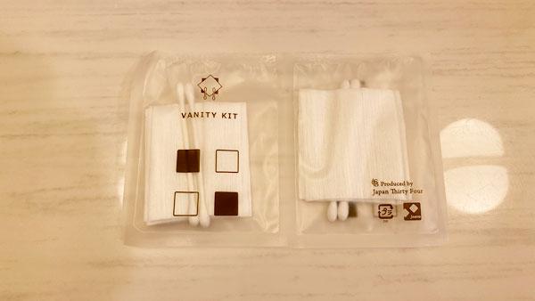 ホテルシーガルてんぽーざん大阪のバニティキット(コットンと綿棒)