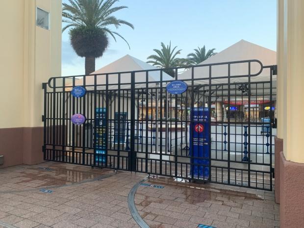 USJの入り口柵