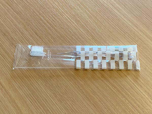 カンデオホテルズ大阪なんばの歯ブラシ