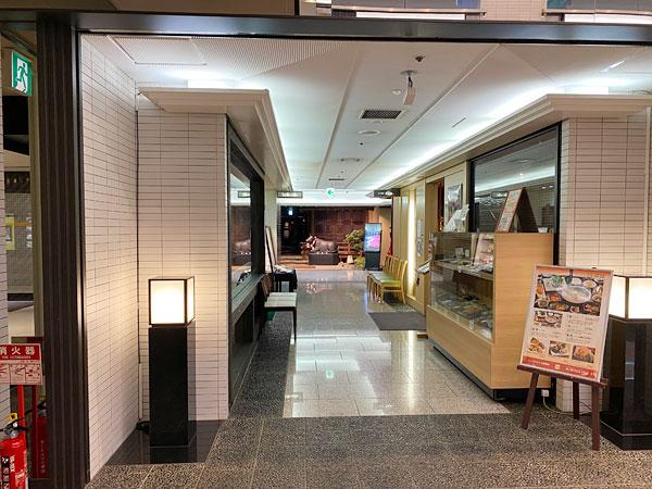 美食の回廊の通路