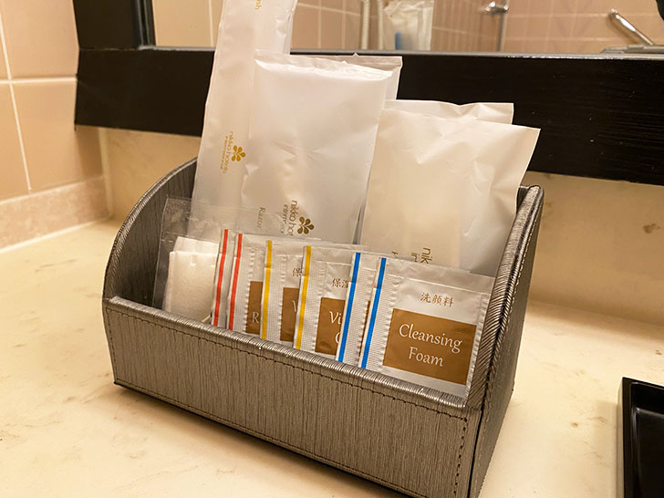ホテル日航大阪のアメニティグッズ