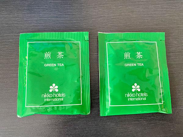 ホテル日航大阪の煎茶のティーバッグ