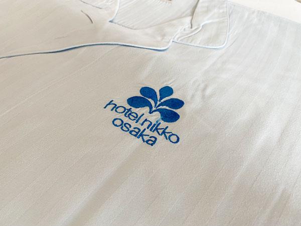 ホテル日航大阪のパジャマのワンポイントマーク
