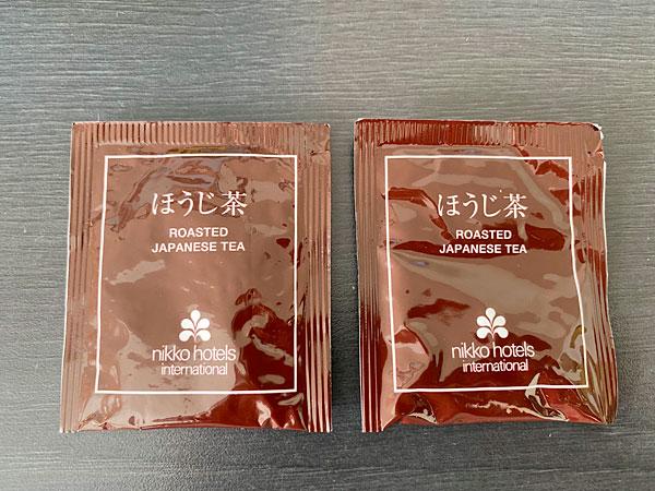 ホテル日航大阪のほうじ茶のティーバッグ