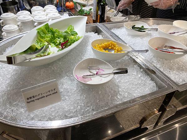 春野菜のグリーンサラダ(ホテル日航大阪セリーナランチブッフェ)