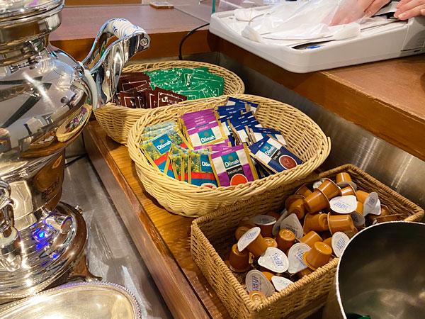 紅茶や日本茶のティーバッグ、フレッシュ(ホテル日航大阪セリーナのランチブッフェ)