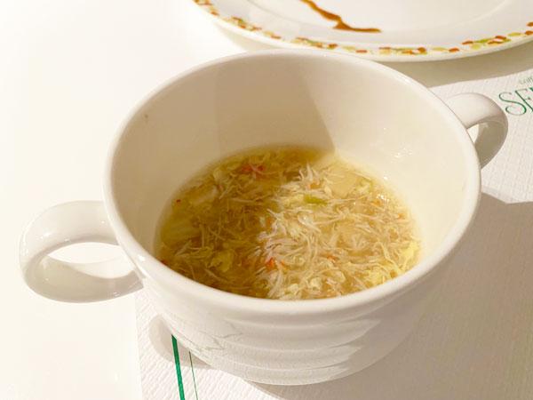 カニと卵の中華スープ(ホテル日航大阪セリーナのランチブッフェ)