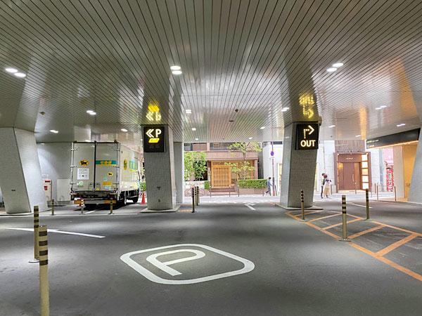 ホテル日航大阪駐車場へ向かうルート