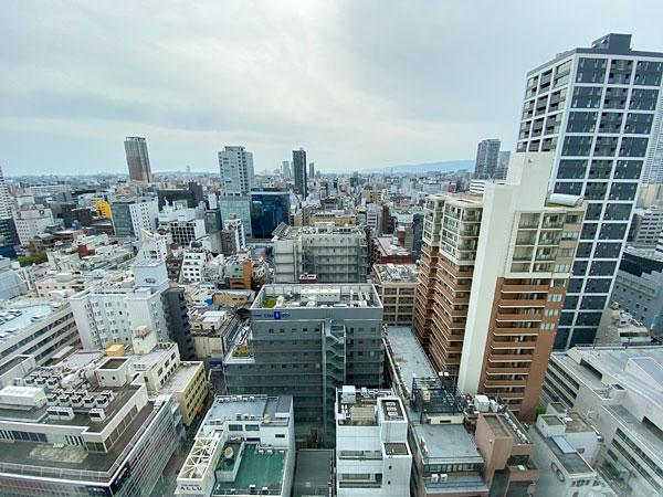 ホテル日航大阪の窓からの眺め
