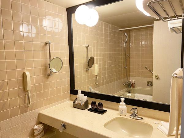 ホテル日航大阪の洗面所