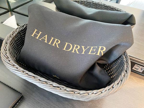 ホテル日航大阪のヘアドライヤー