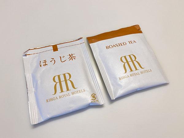 リーガロイヤルホテル大阪のアメニティ(ほうじ茶)
