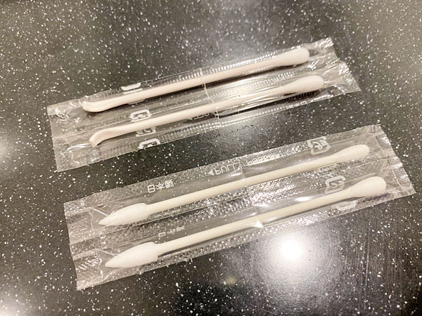 リーガロイヤルホテル大阪のアメニティ(綿棒)