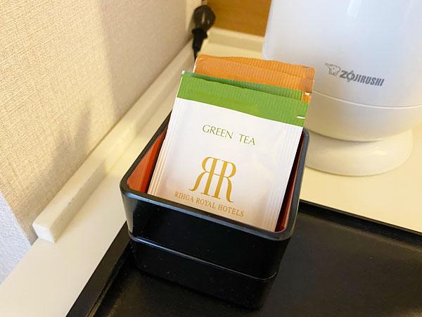 煎茶とほうじ茶のティーバッグ(リーガロイヤルホテル大阪)