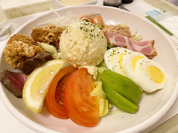 ルームサービスのマーケットサラダ(リーガロイヤルホテル大阪)