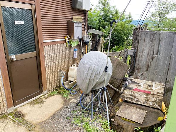 嵐山モンキーパークチケット売り場のトイレ