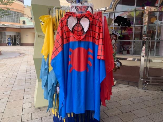 スパイダーマンのポンチョ