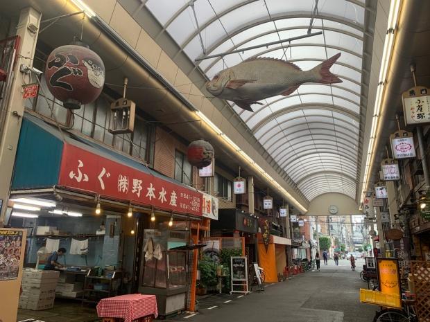 黒門市場の魚のオブジェ
