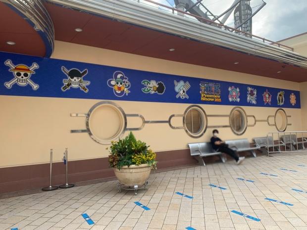 ワンピースプレミアショー2021と海賊旗のロゴ