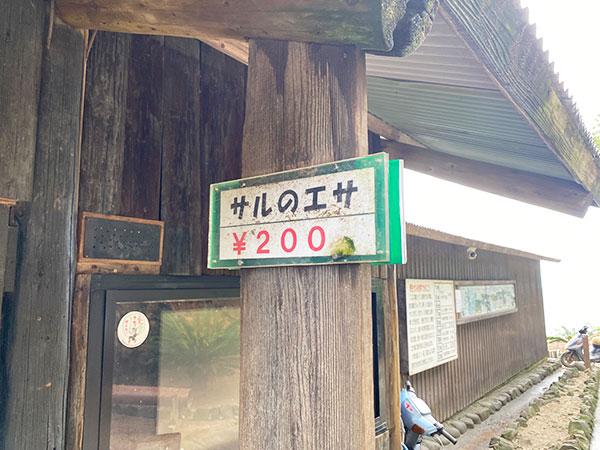 猿のエサは200円