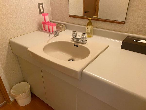 シーアイガ海月の部屋の洗面所