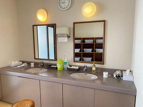 シーアイガ海月の浴場の洗面所