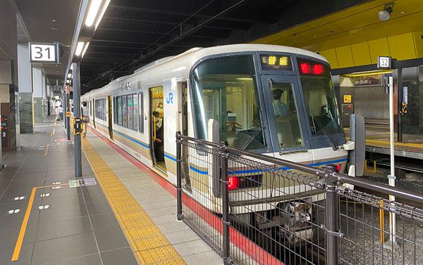 JR京都駅から園部駅行きの普通電車