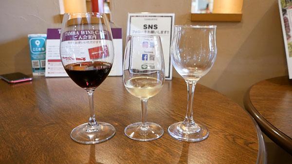 丹波ワインの試飲ワイン